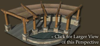 Amphitheater luxury backyard model