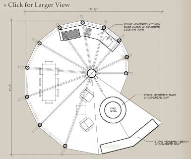 Custom outdoor floor plan, the Nautilus