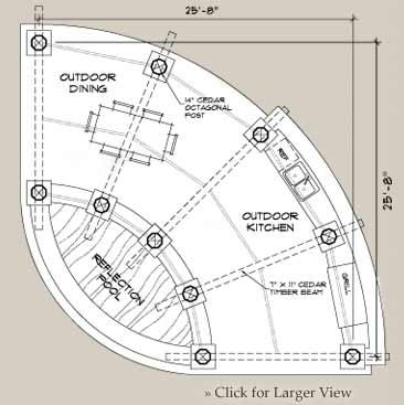 Custom outdoor floor plan, the Amphitheater