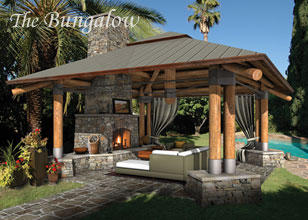 outdoor living room designs. The Bungalow Backyard Design Outdoor Room Designs  Living Plans Custom Spaces