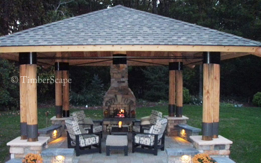 Outdoor Gazebo Plans Fireplace Diy Twin Over