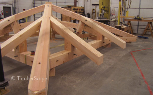 Heavy timber roof structure