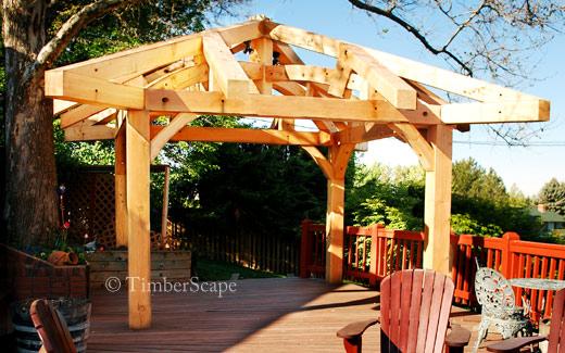 Timber gazebo installation photo