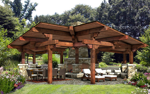 Photo gallery trailwind outdoor design custom outdoor for Outdoor pavilion plans
