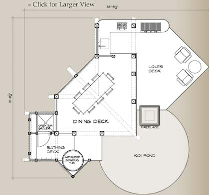 Lotus Room Outdoor Floor Plan