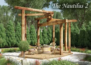 Nautilus timber pergola design
