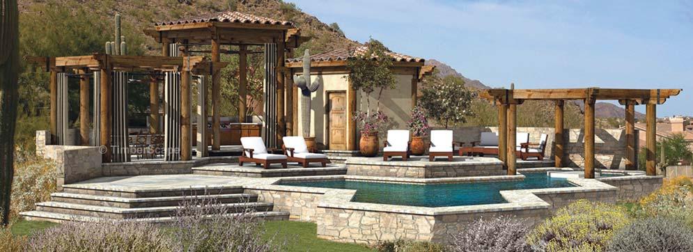 Outdoor Room Design poolside oasis | outdoor pergola system | outdoor room design