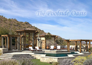 Poolside Oasis custom outdoor living design