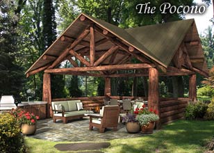 Pocono Luxuy outdoor pavilion