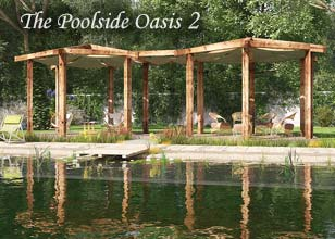 Poolside Oasis 2 timber pergolas