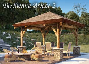 Sienna Breeze 2 Timber pergola