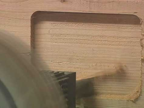 Precise Cutting of Timber